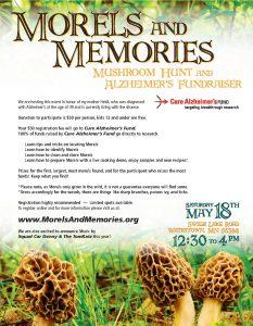 Morels & Memories - Mushroom Hunt & Alzheimer's Fundraiser